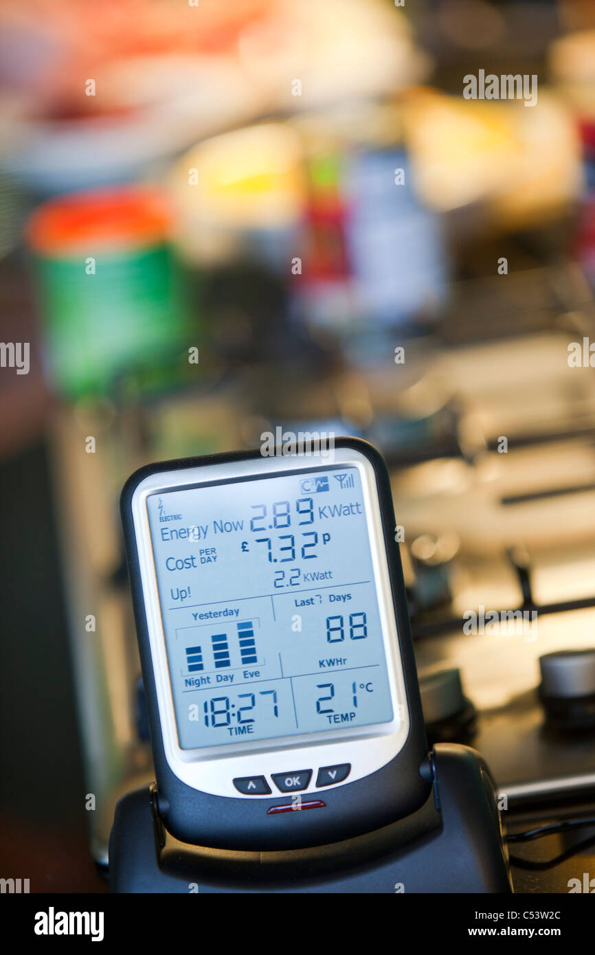 A smart meter for monitoring energy consumption - Stock Image