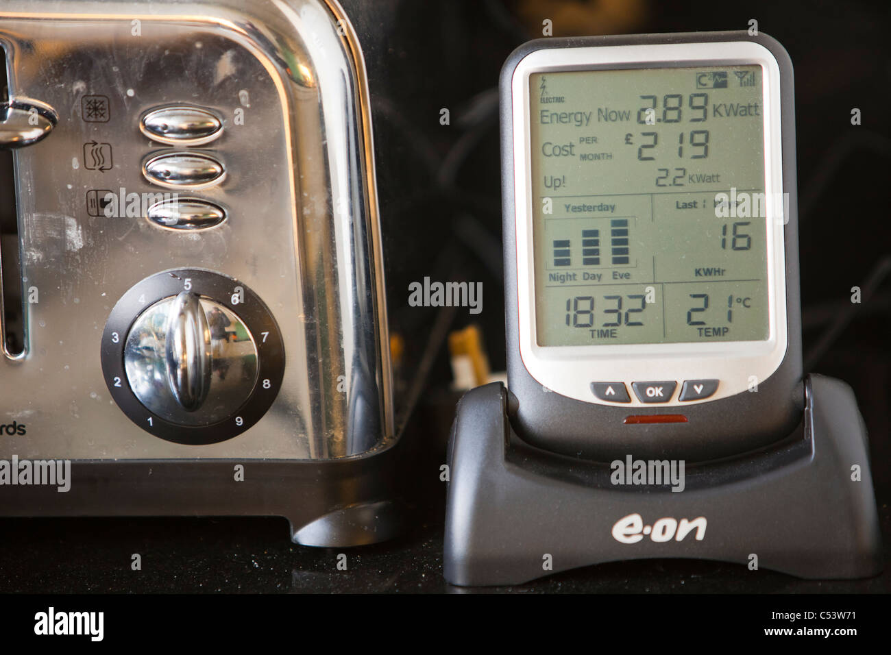 A Smart meter for measuring household electricity use. - Stock Image