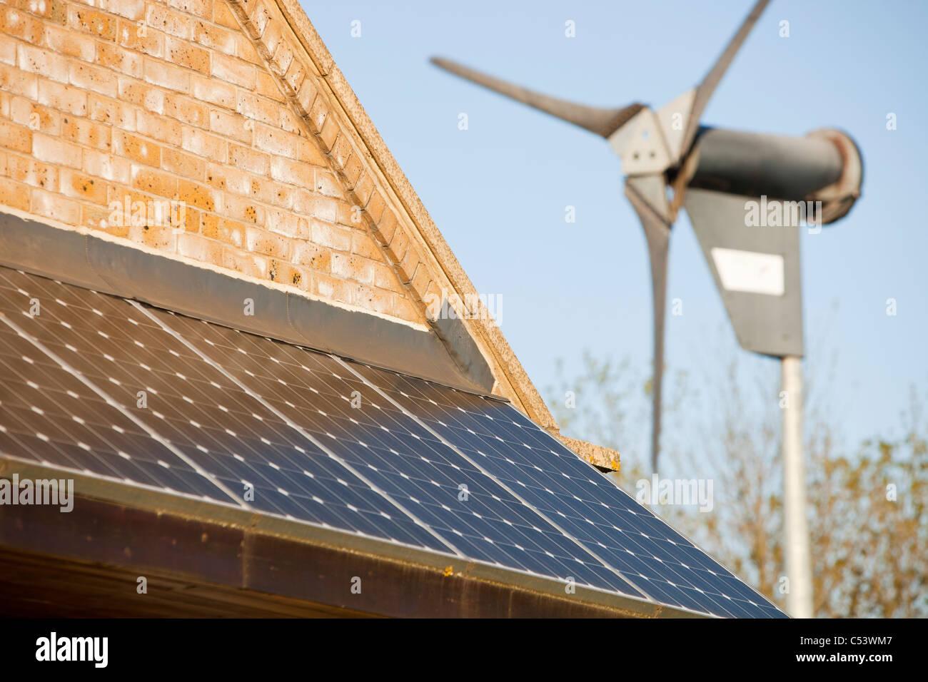 Renewable energy at Cowpen Bewley Woodland Park in Billingham, UK - Stock Image