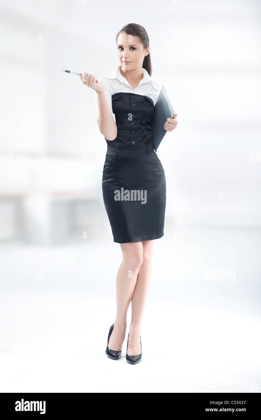 An attractive businesswoman Stock Photo