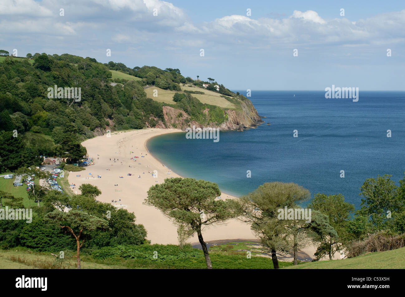 Blackpool Sands Devon UK - Stock Image