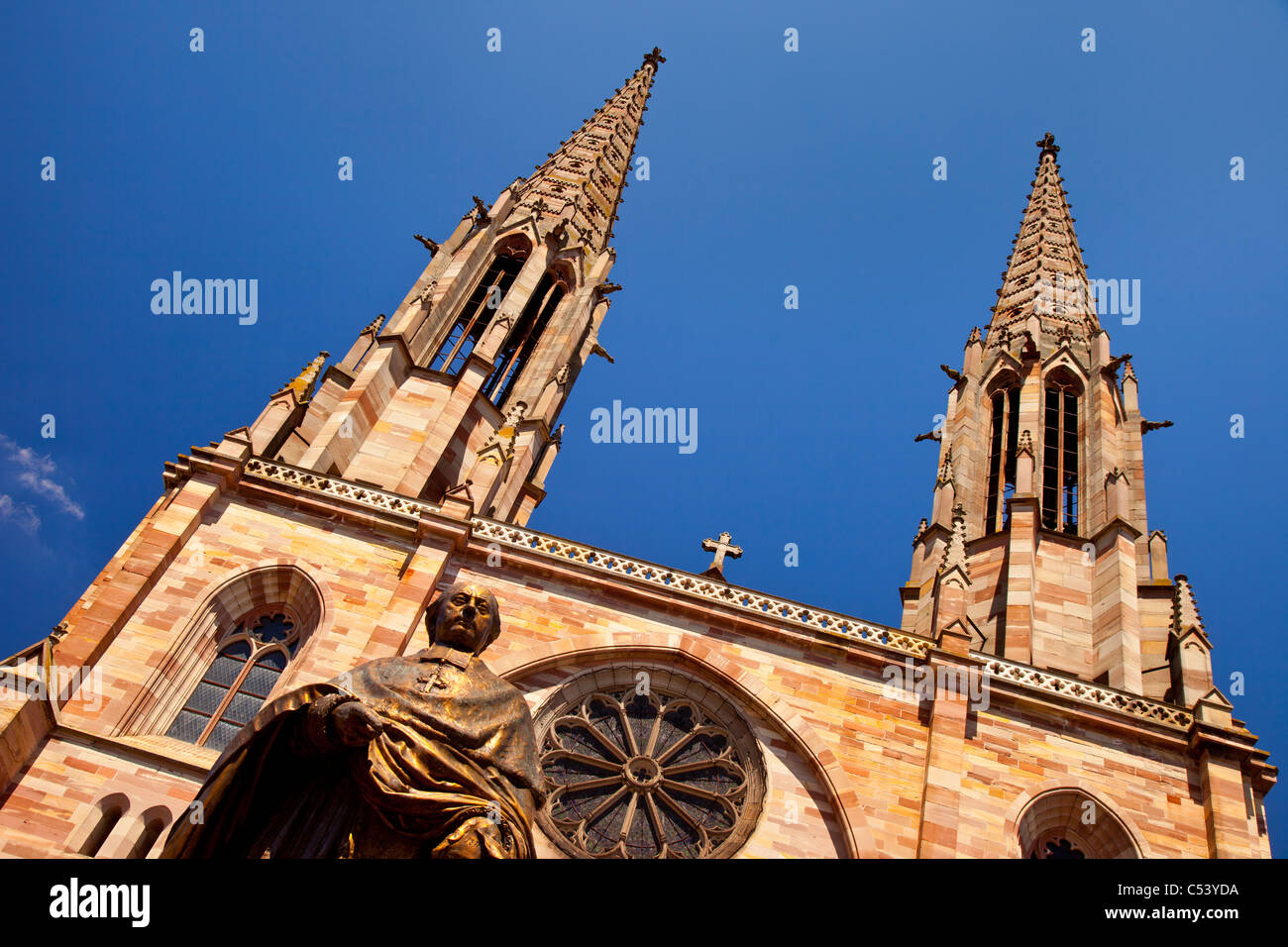 Saint Pierre and Saint Paul Church in Obernai, Bas-Rhin Alsace France - Stock Image