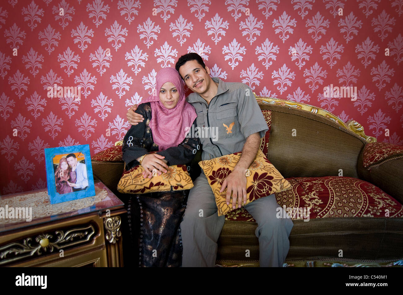 EGYPT FAYOUM Newly Wed Couple Mahmoud Abdel Baki And Fatma Soliman Mohamed In Gablaa Village She Is Only 16