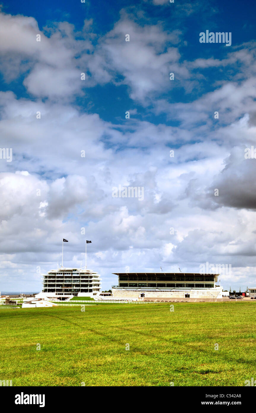 Epsom Downs racecourse and grandstand Stock Photo