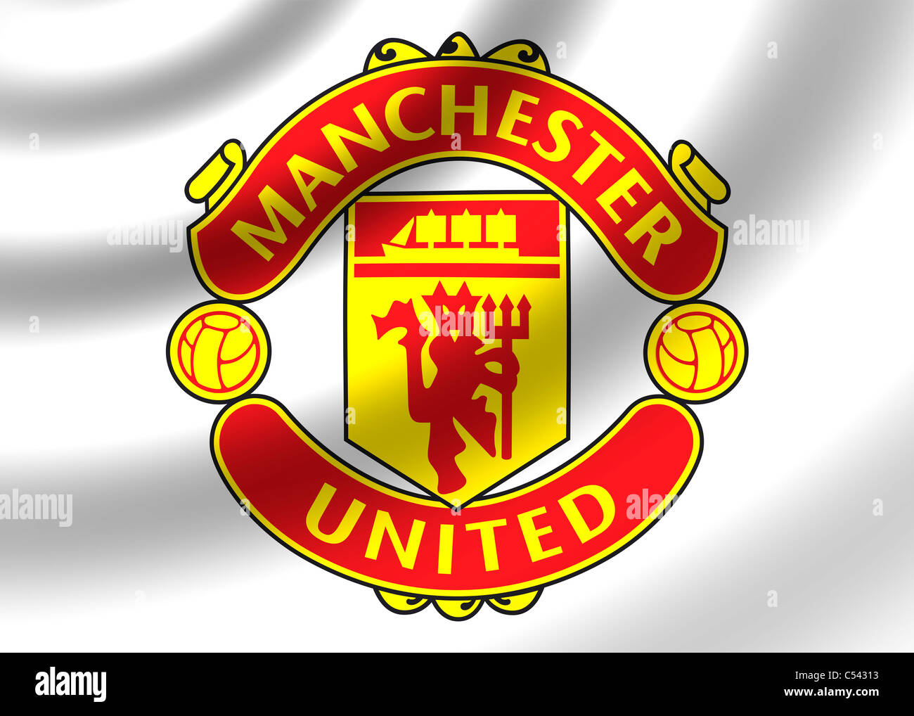 Manchester United Flag Logo Symbol Icon Stock Photo Alamy