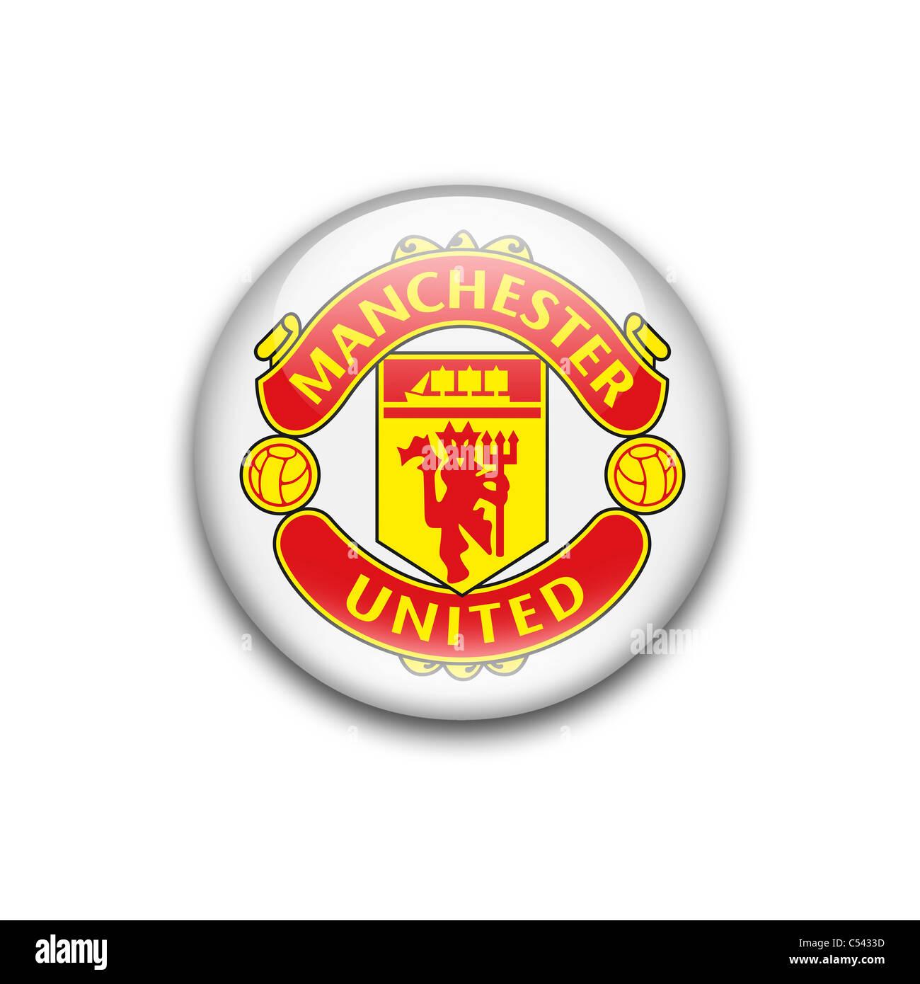Manchester United Flag Logo Symbol Icon Stock Photo Alamy
