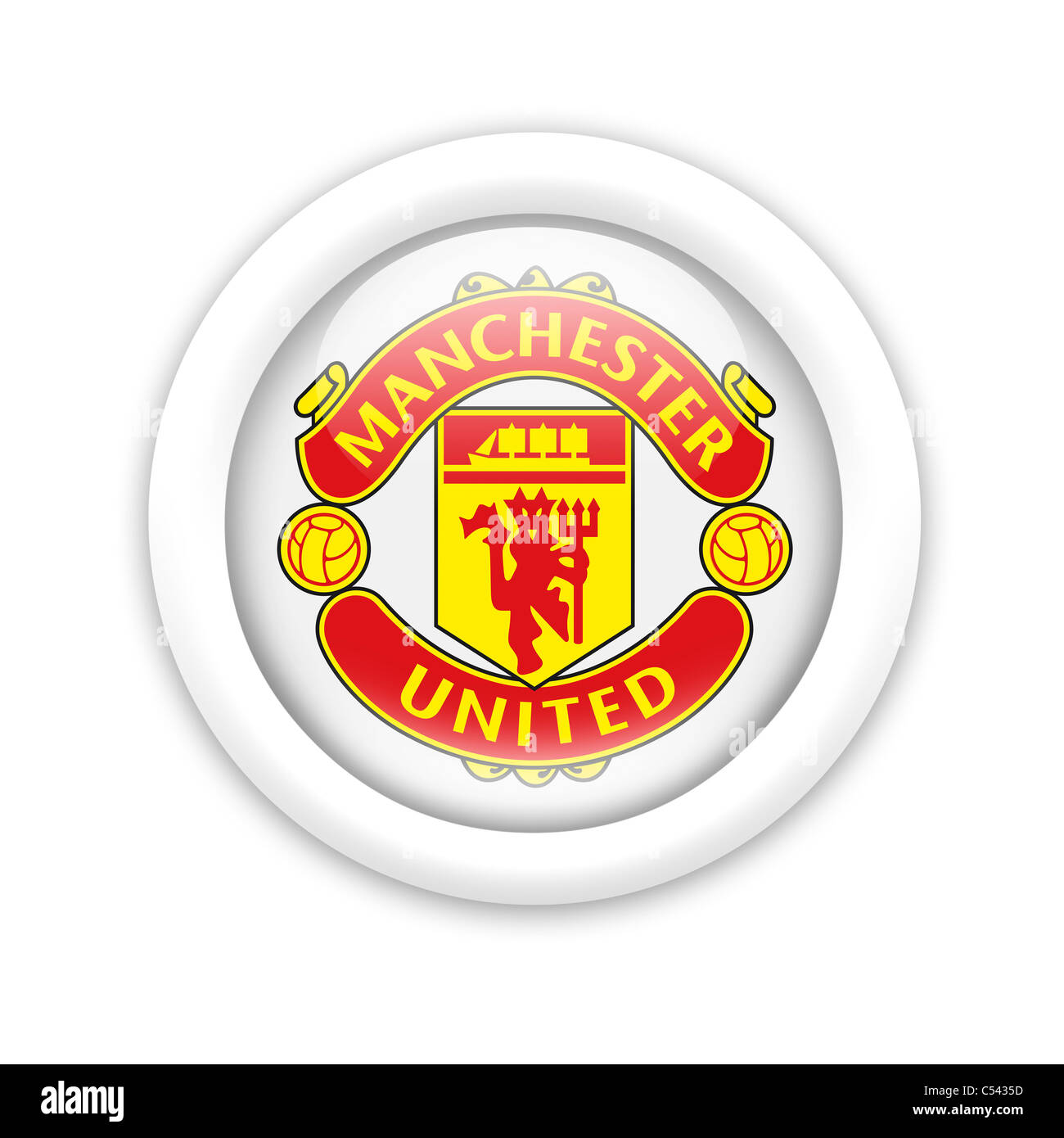 Manchester United Logo Cut Out Stock Images Pictures Alamy