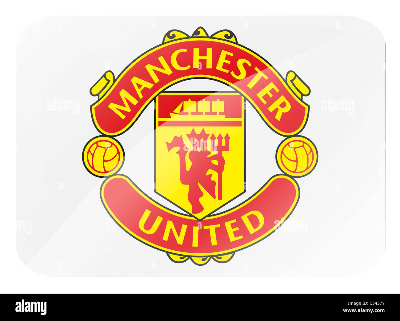 Manchester united flag logo symbol icon stock photo 37584399 alamy manchester united flag logo symbol icon voltagebd Image collections