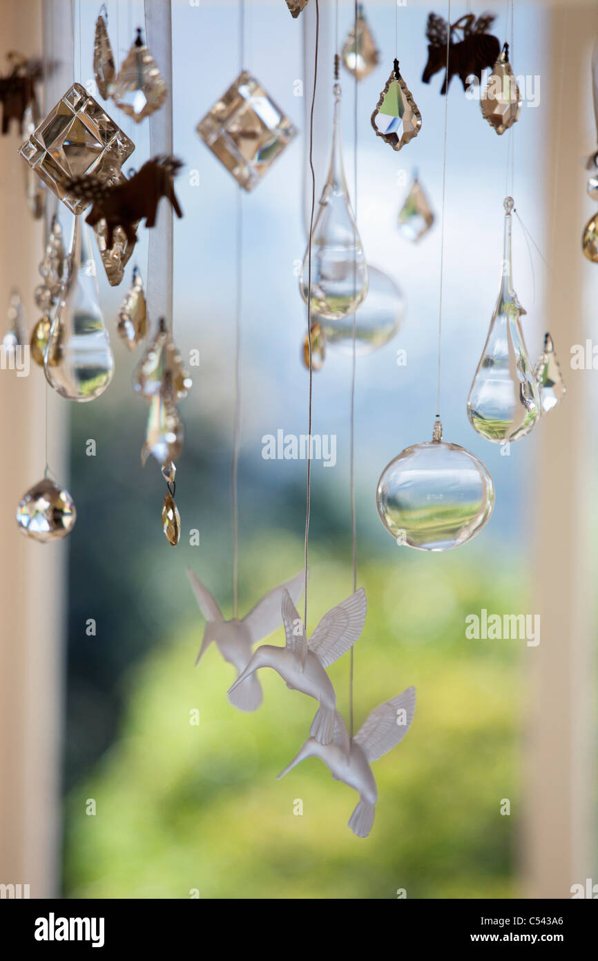 Close-up of a wind chime - Stock Image