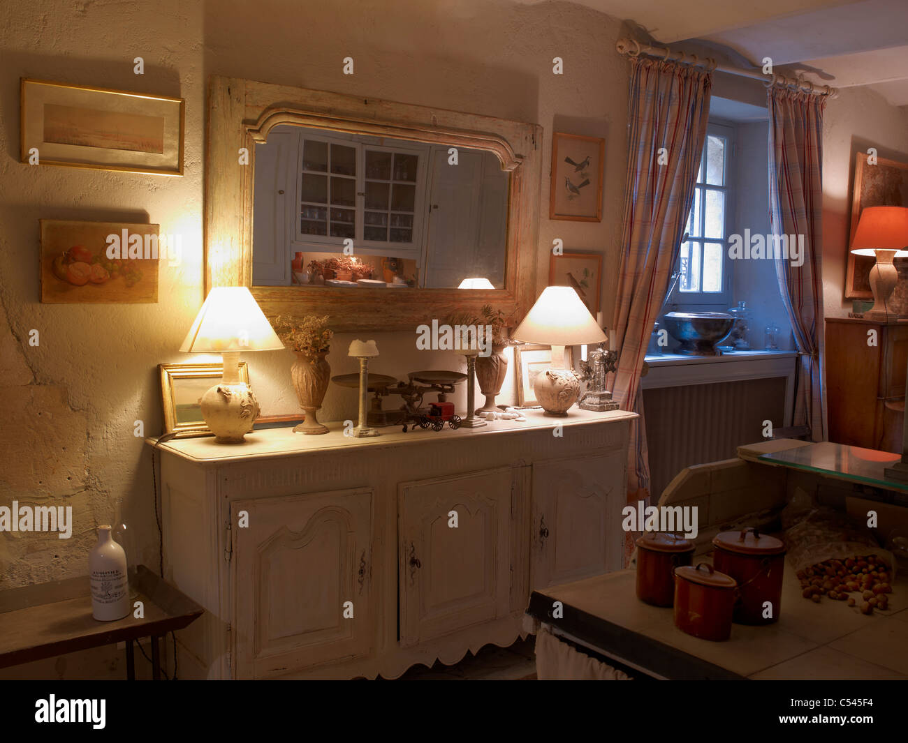 Old French quaint,kitchen,Lourmarin,Provence,France - Stock Image