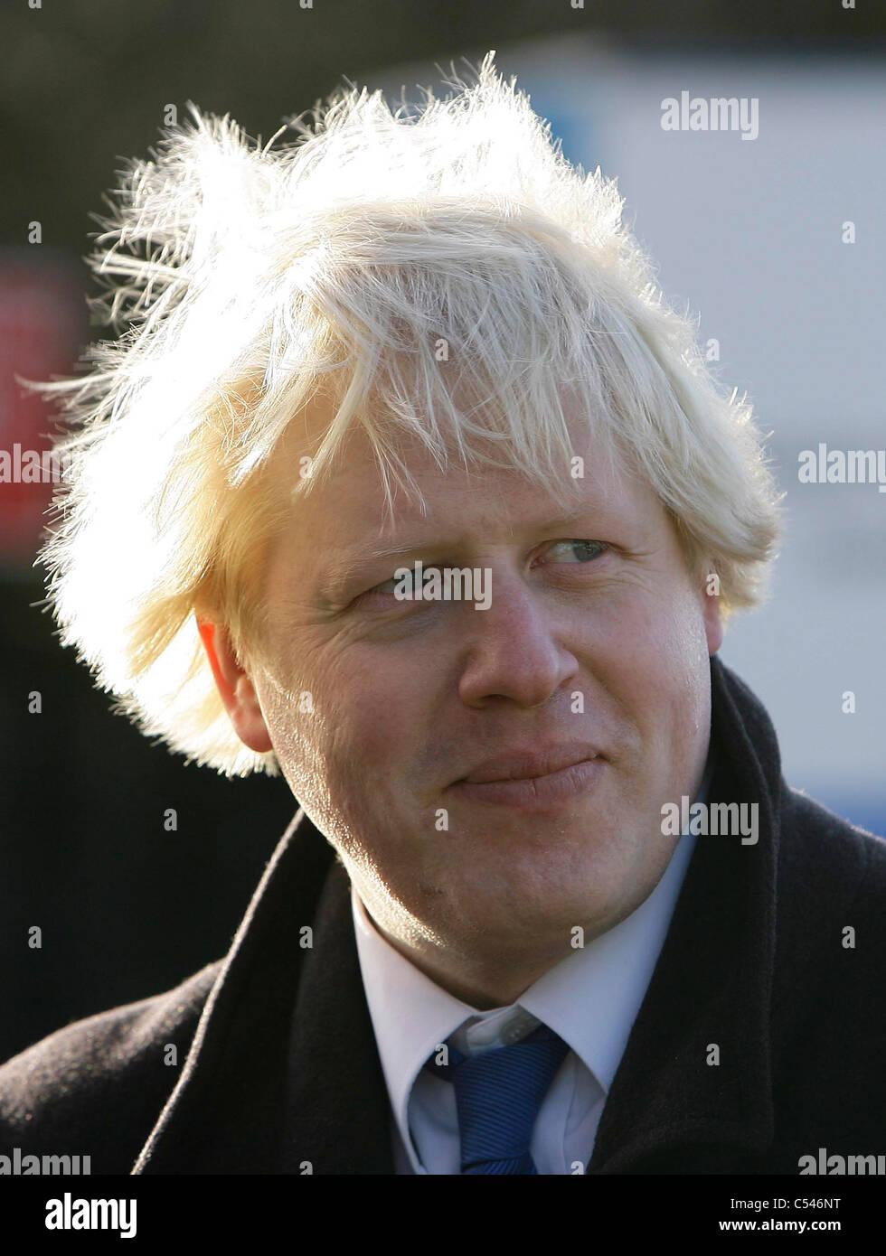 London Mayor Boris Johnson. Picture by James Boardman. - Stock Image