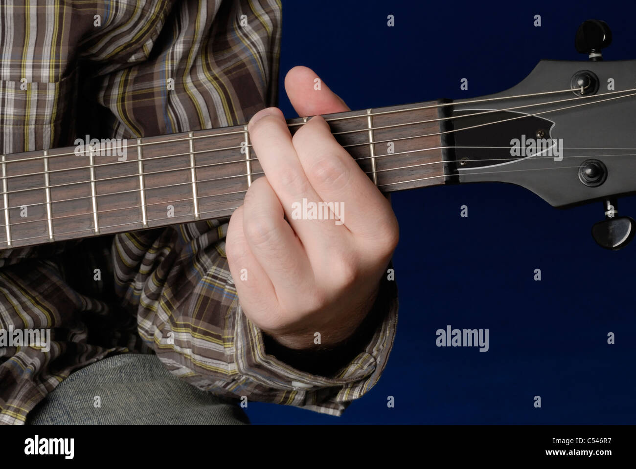 Mans Hand Demonstrating G Chord On Guitar Stock Photo 37587179 Alamy