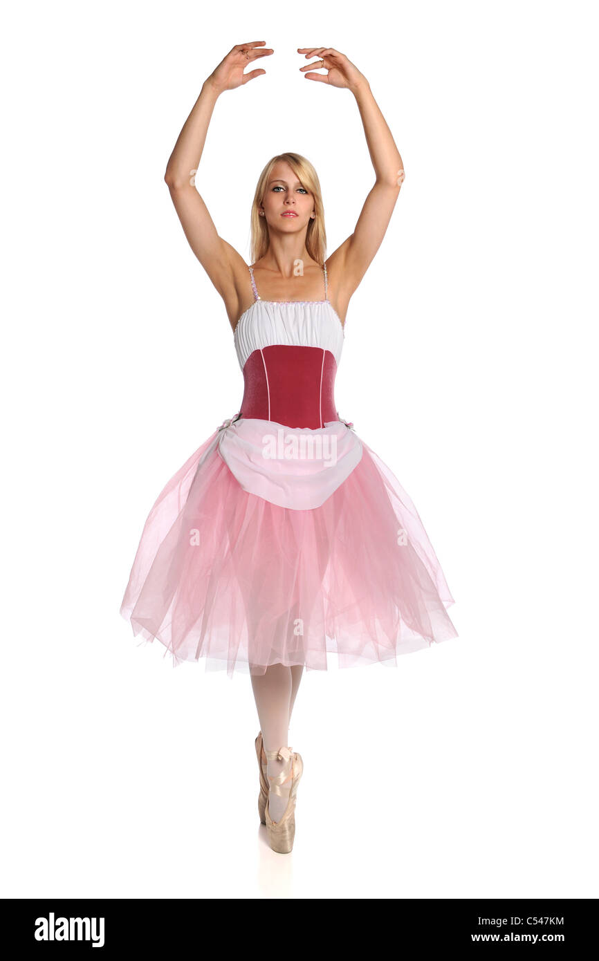 3c910a348 Ballerina Dancing Back View Isolated Stock Photos   Ballerina ...