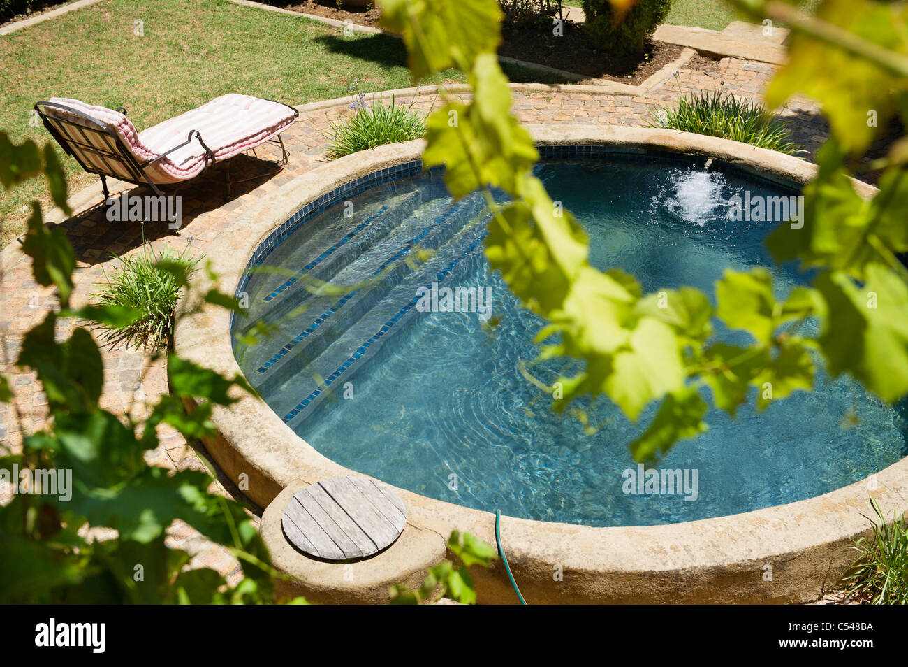 High angle view of a swimming pool Stock Photo