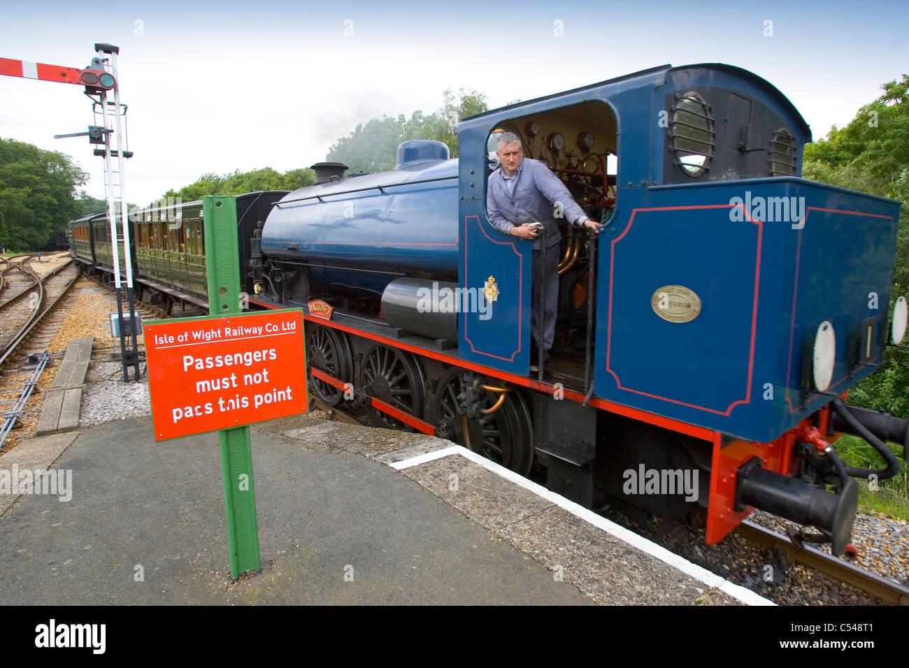 1940s weekend Isle of Wight Steam Railway - Stock Image