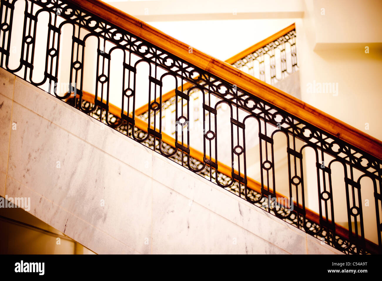 Courthouse Stairs - Stock Image