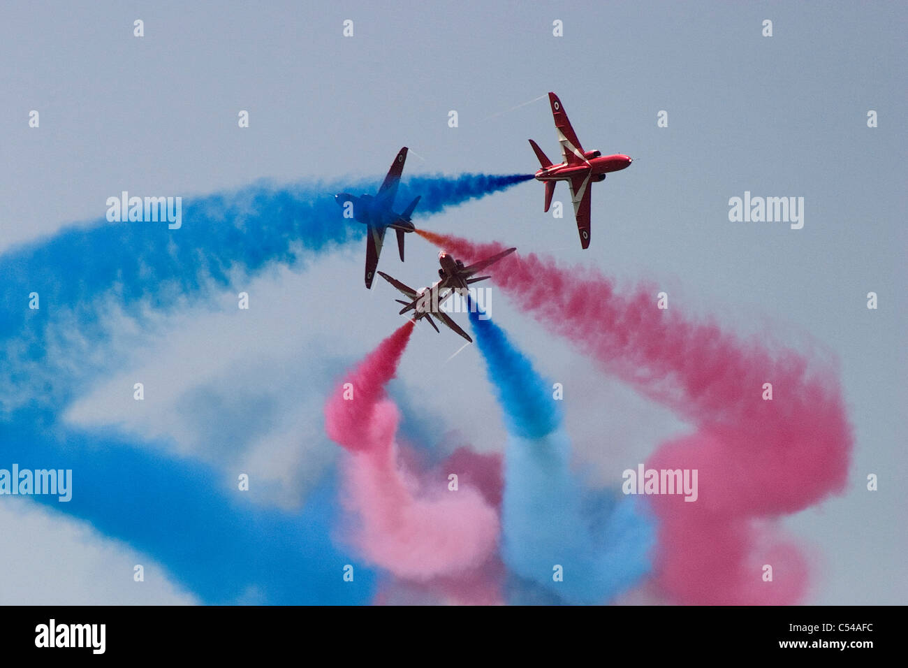 The Red Arrows display team at the Goodwood Festival of speed, 2011 - Stock Image