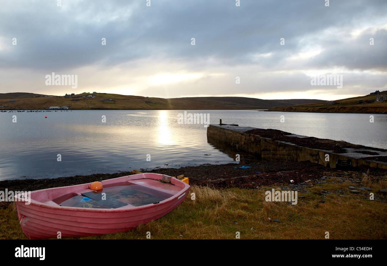 Landscape Shetland Islands Scotland UK - Stock Image