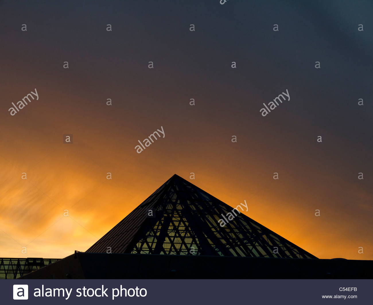 Portsmouth Southsea Pyramids Centre Sunset - Stock Image
