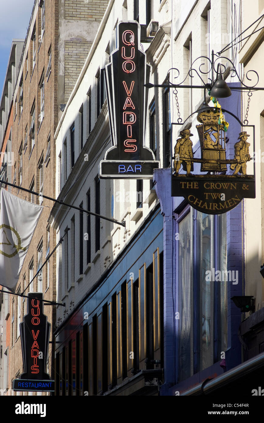 Pub and restaurant, Dean Street., Soho, London, W1, England - Stock Image