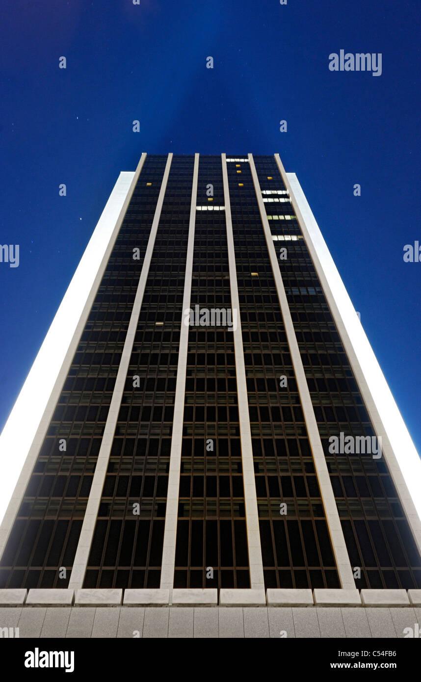 Newly renovated facade of the Radisson Blu Hotel, 32 floors, Dammtorbahnhof, Hamburg-Mitte district, Hamburg, Germany, - Stock Image