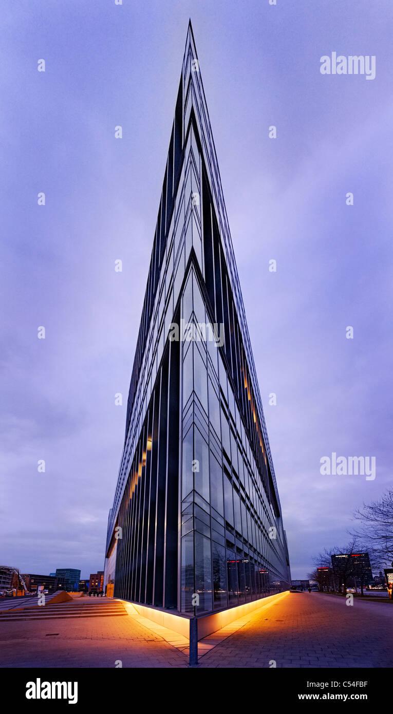 Deichtorcenter, modern architecture, Deichtorplatz, Hafencity quarter, Hanseatic City of Hamburg, Germany, Europe - Stock Image