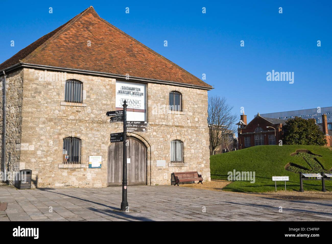 The former medieval Wool House, Southampton Maritime Museum, Southampton, Hampshire, England, UK - Stock Image