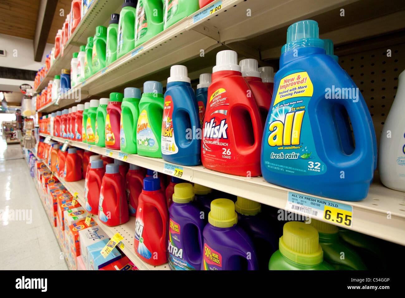 Clothes washing detergent for sale in Kearney, Nebraska, USA. - Stock Image