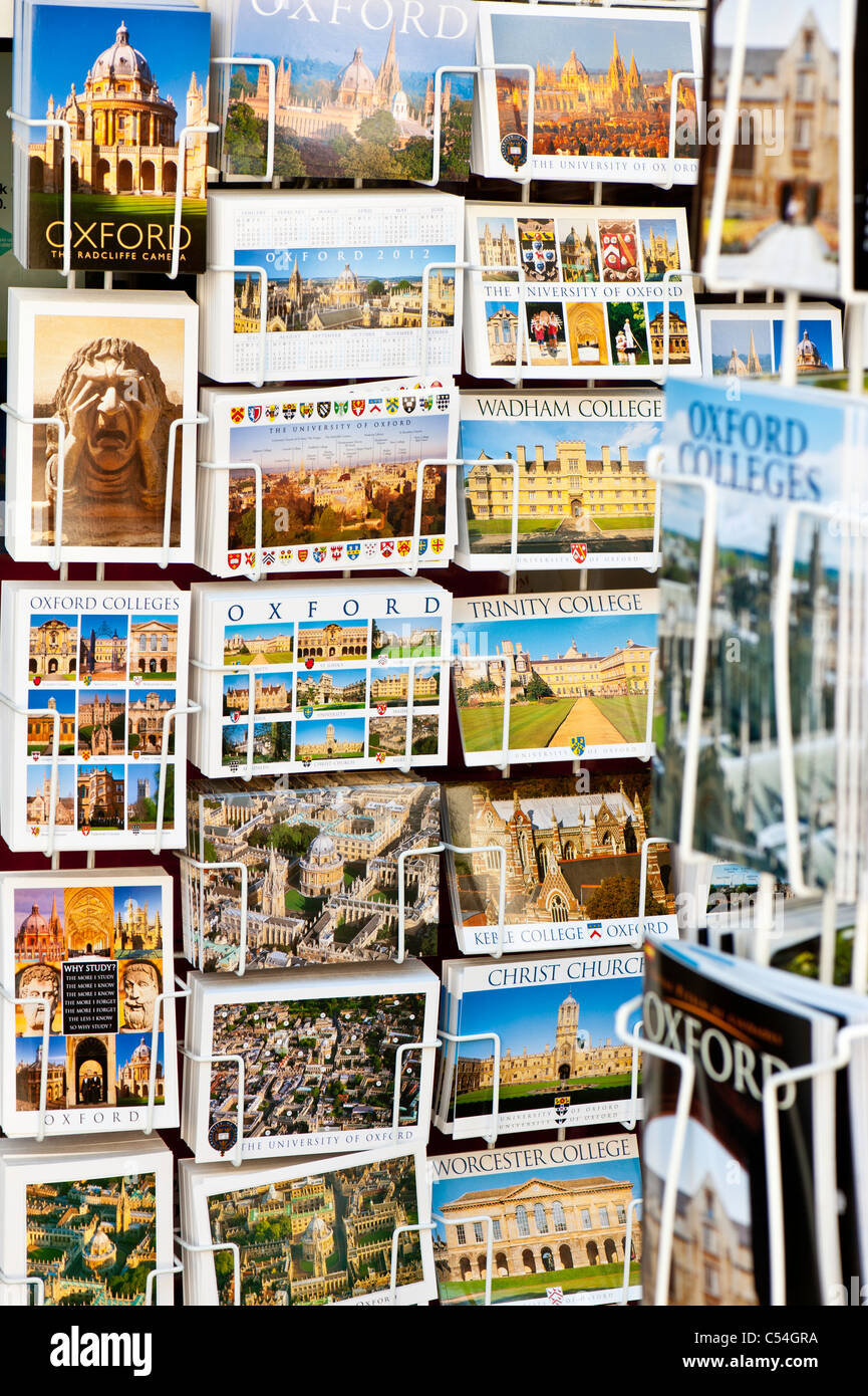 Postcards on sale, Oxford, Oxfordshire, United Kingdom - Stock Image