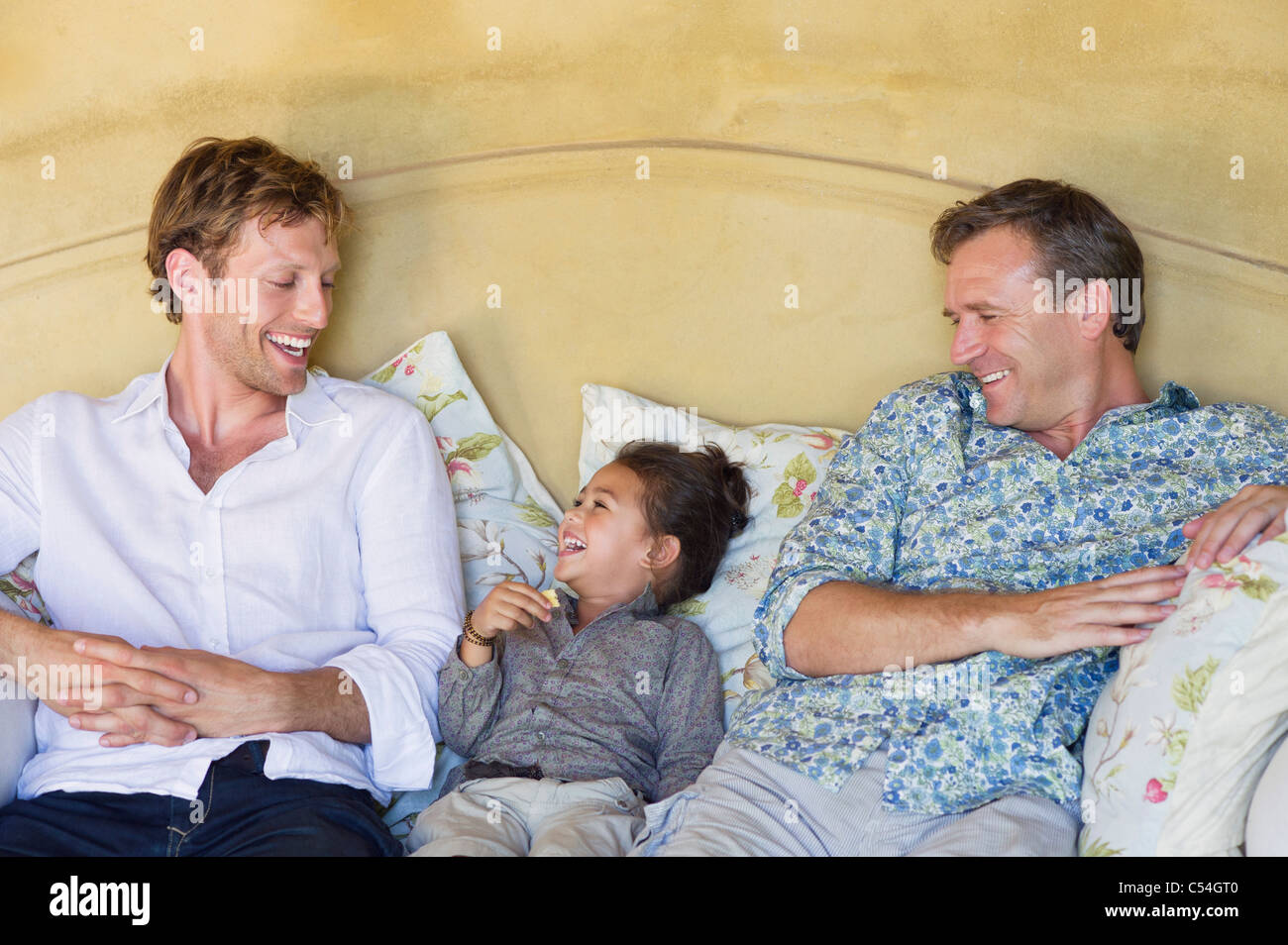 Family having good time at house - Stock Image