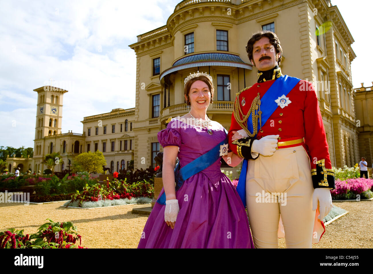 Young, Queen Victoria, Prince Albert, Family Fun Day Out, Osborne House, East, Cowes, isle of Wight, England, UK, - Stock Image