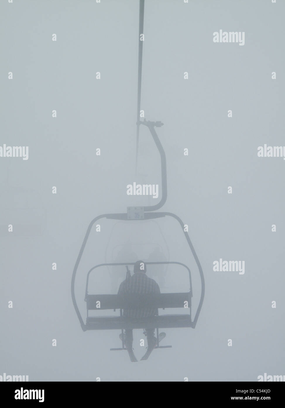 Chairlift In The Fog Stock Photos & Chairlift In The Fog Stock ...