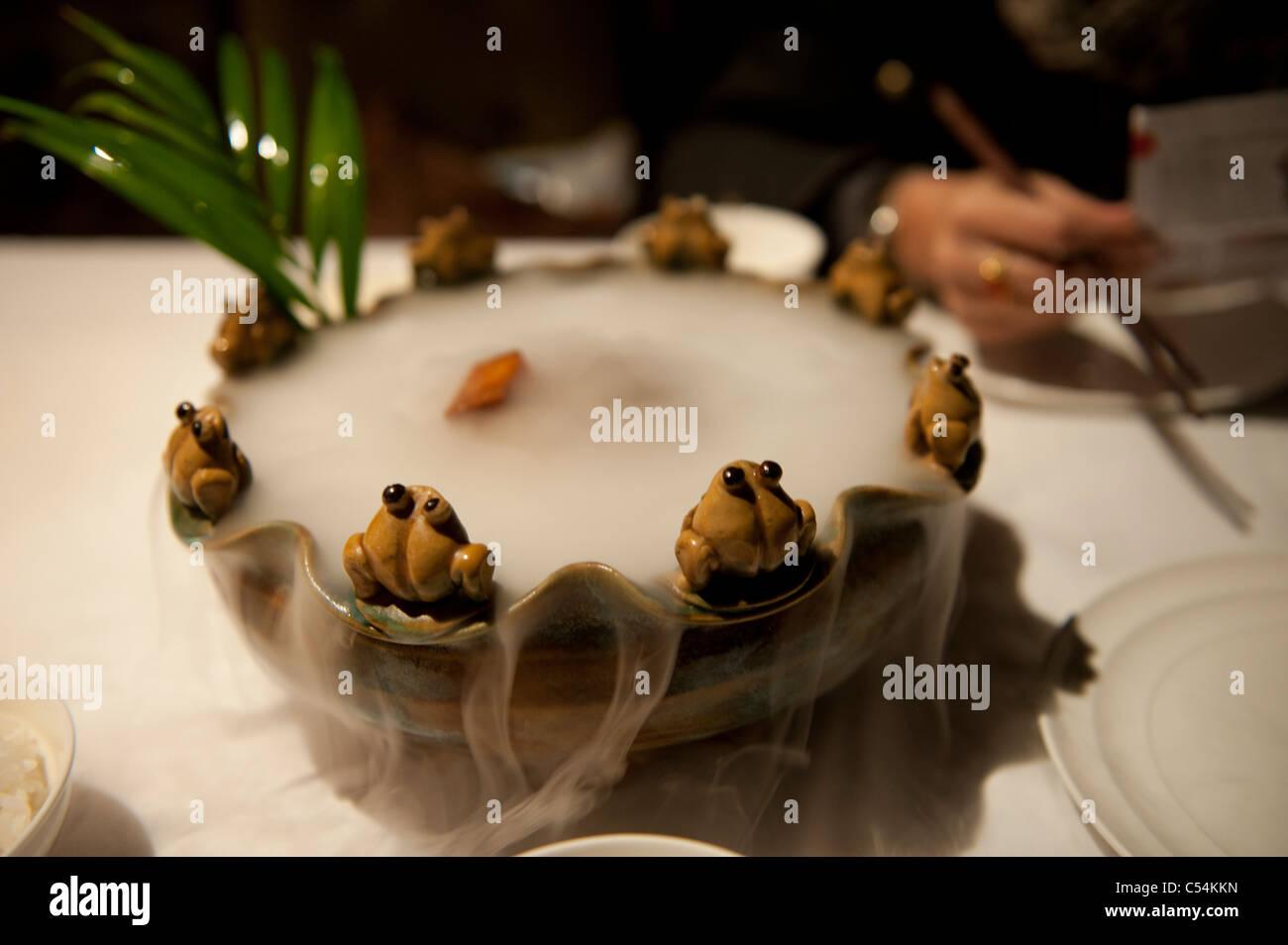 Close-up of a Chinese dish, Back Lakes, Beijing, China - Stock Image