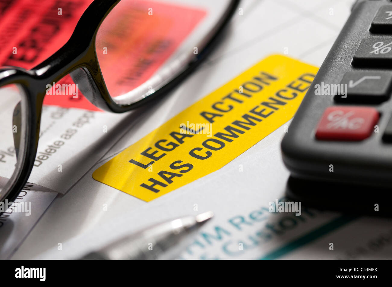final demand, overdue bills - Stock Image