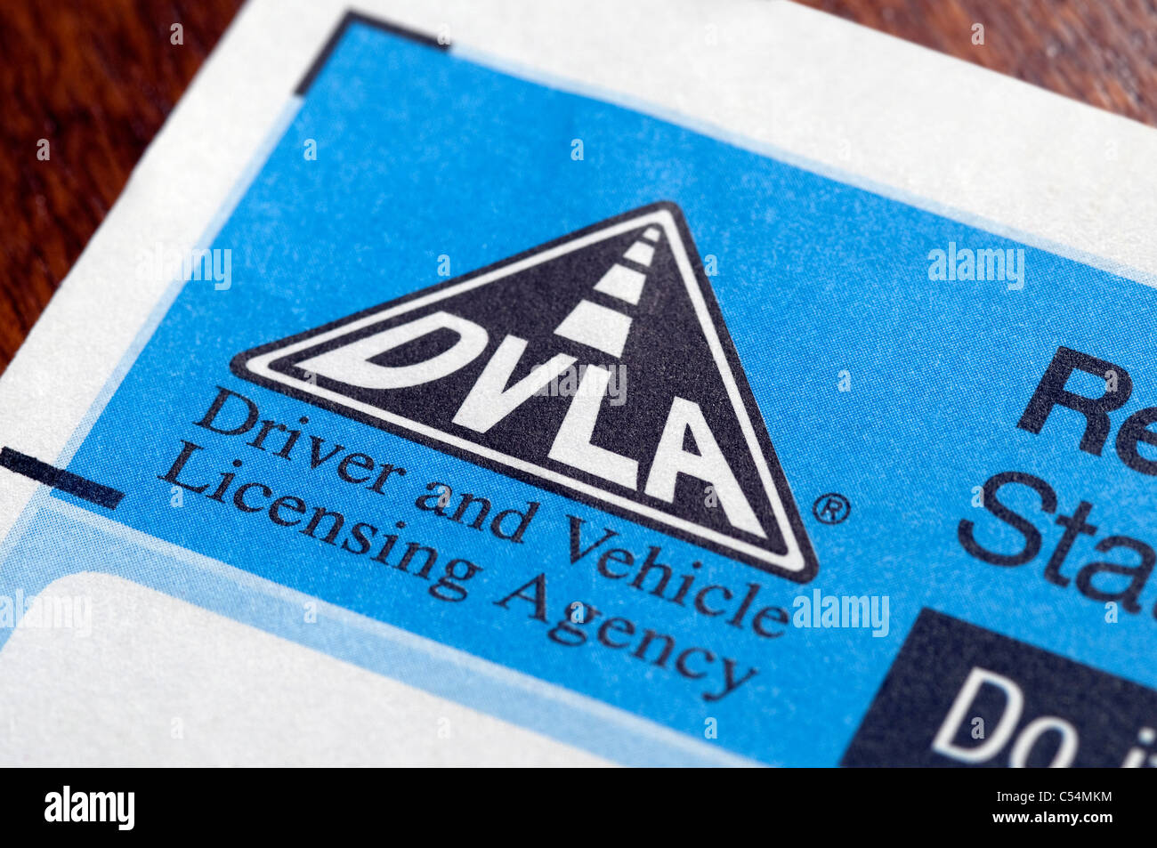 dvla tax disc renewal reminder form - Stock Image