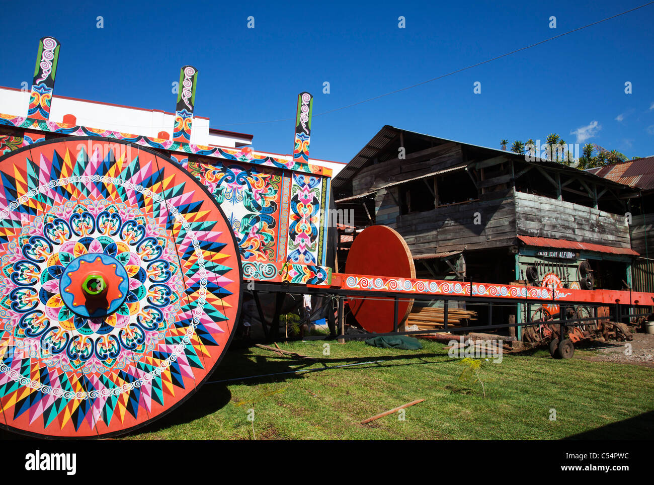 The world's biggest oxcart Costa Rica - Stock Image