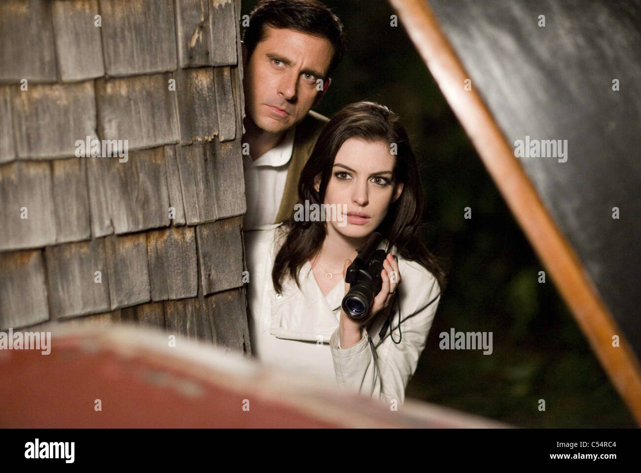 GET SMART 2008 Warner Bros film with Anne Hathaway and Steve Carell - Stock Image