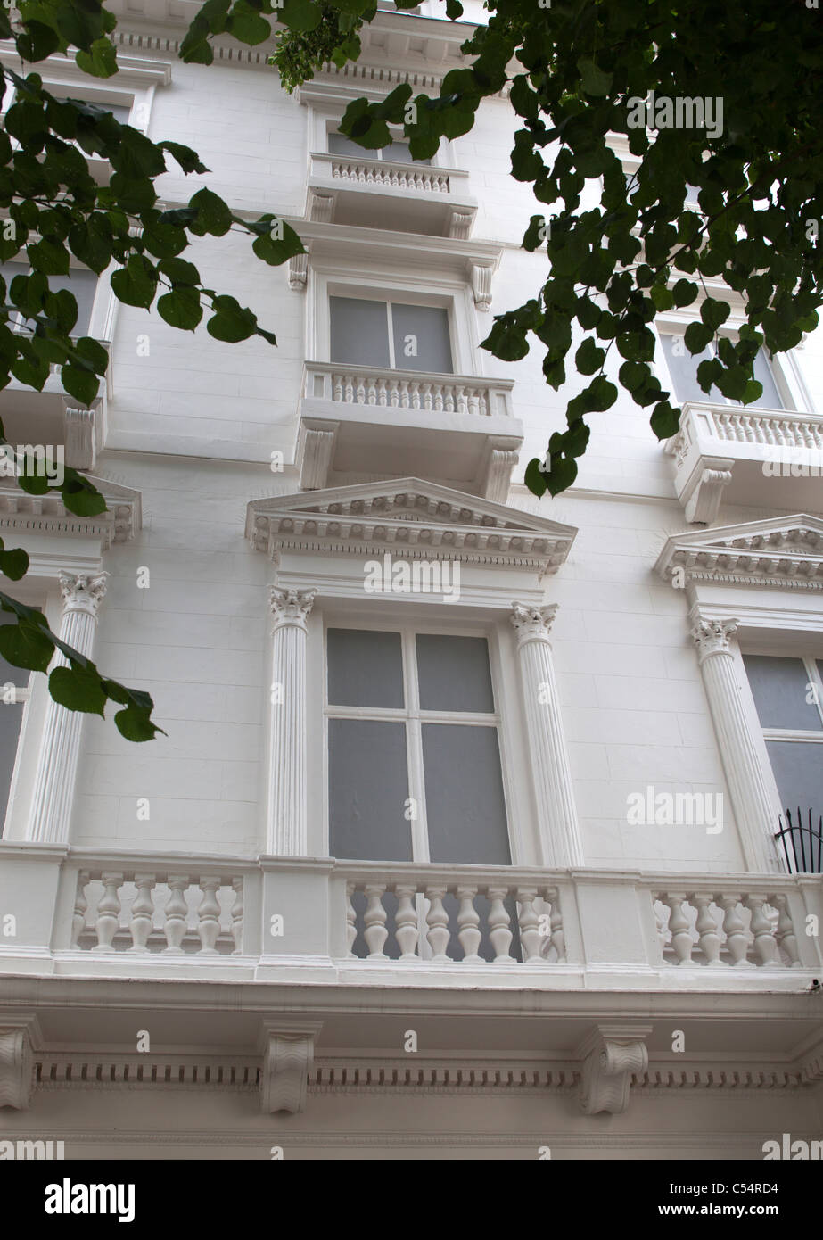 .23 and 24 Leinster Gardens London with False Building Facade - Stock Image