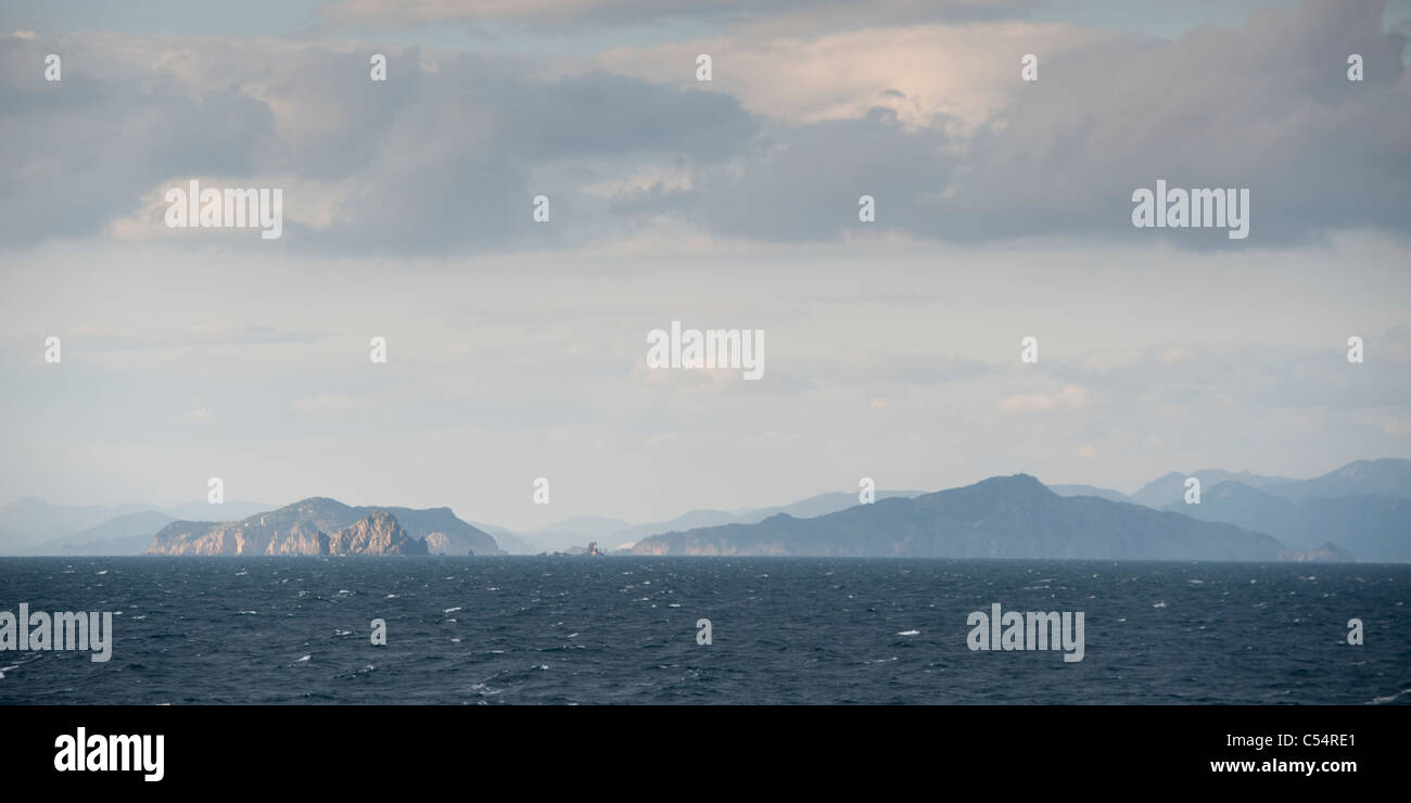 Panoramic view of the East China Sea - Stock Image