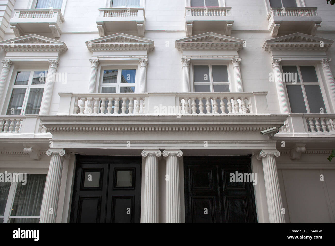 23 and 24 Leinster Gardens London with False Building Facade - Stock Image