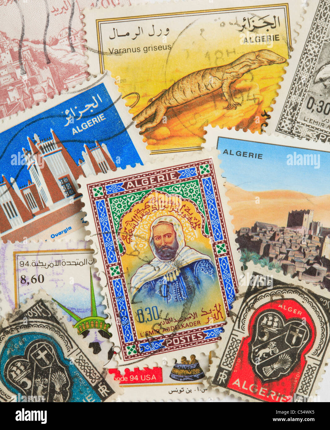 Postage Stamps from Algeria - Stock Image