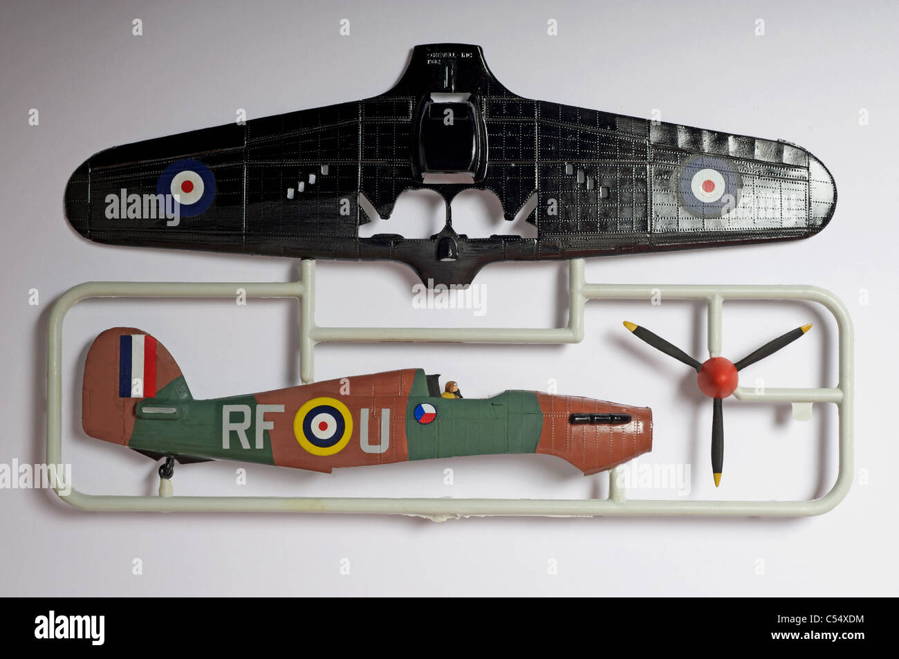 Revell Hawker Hurricane plastic kit - Stock Image
