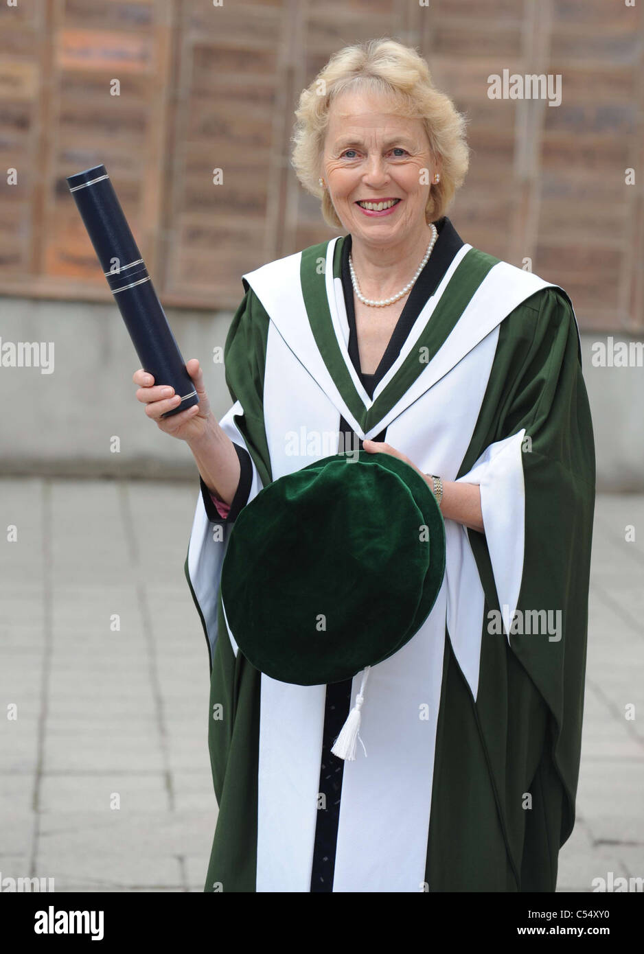 honorary doctorates at Queen Margaret University for Professor Alison Tierney CBE - Stock Image