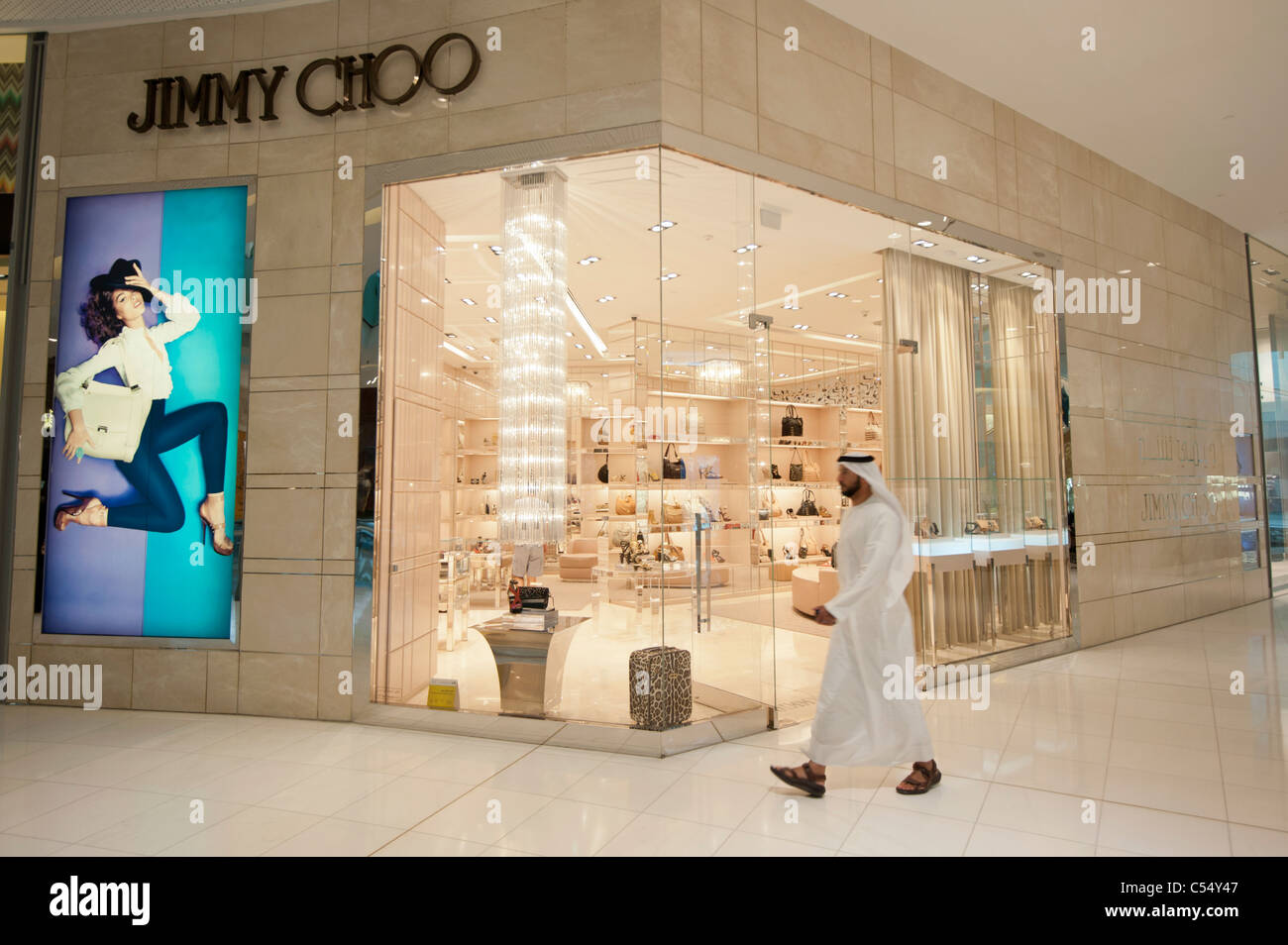 9e37f8a081f Jimmy Choo store n Dubai Mall in Dubai United Arab Emirates UAE - Stock  Image