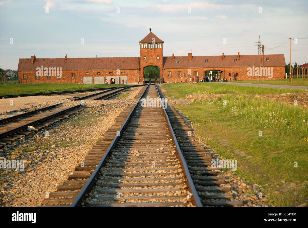 Railway Entrance To Auschwitz 2 Owicim Poland
