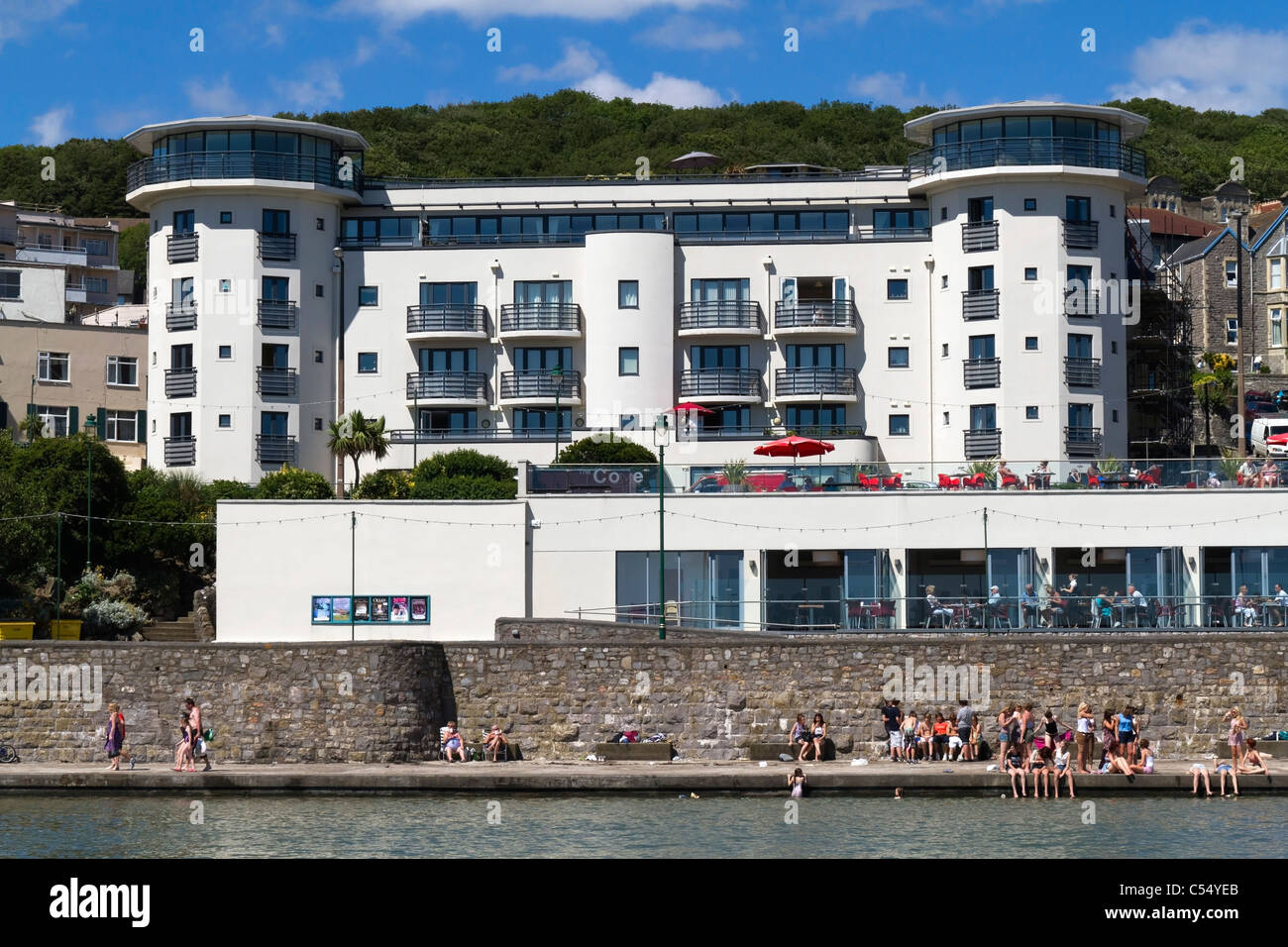 Holiday apartments in Weston Super Mare - Stock Image
