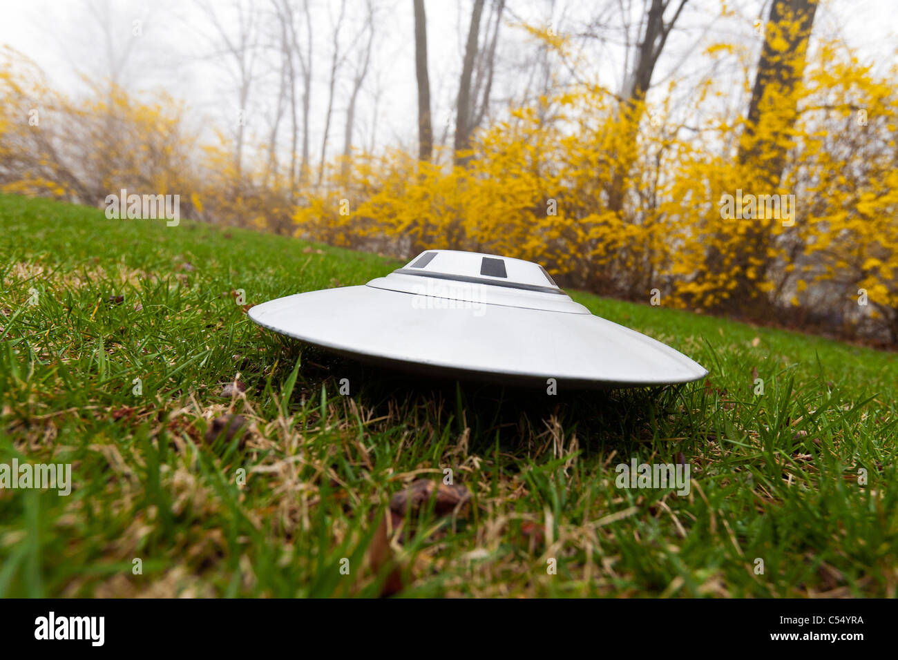 UFO on the ground. - Stock Image