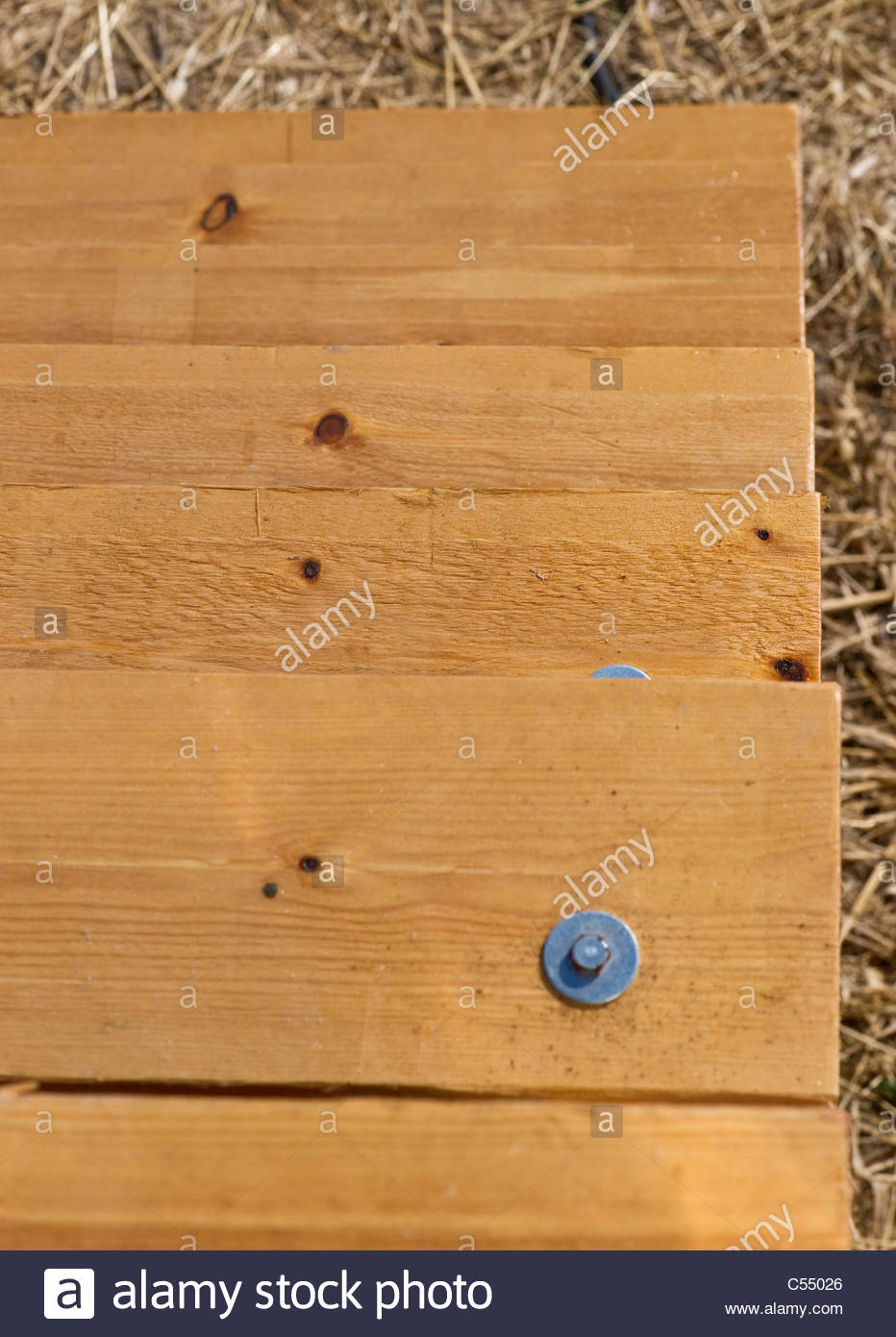 Wooden steps - Stock Image