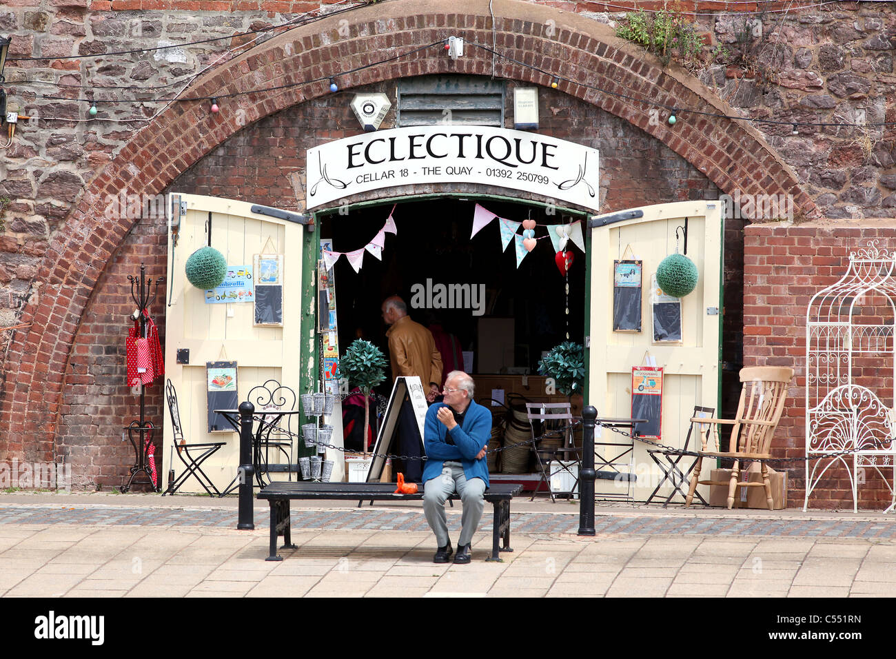 Pic by Mark Passmore/markpassmore.com. 12/09/2010. GV of Exeter's historic Quay. - Stock Image