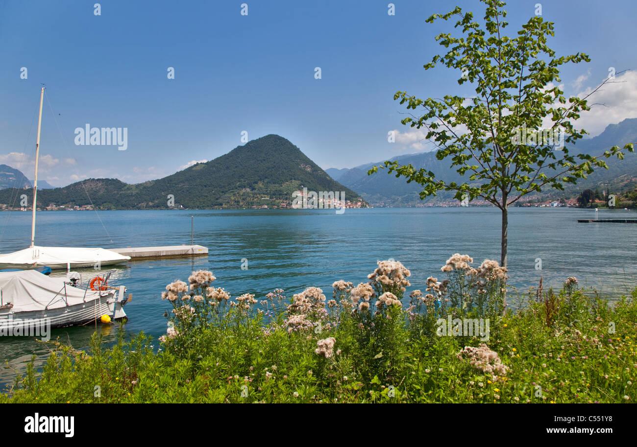 Isola Monte, Lake Iseo, Italy - Stock Image